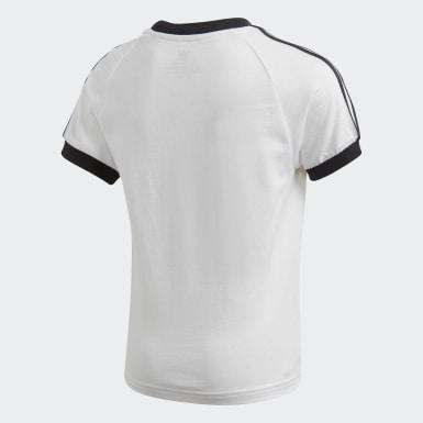 Çocuklar Originals Beyaz 3 Bantlı Tişört
