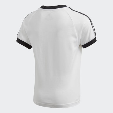 Kinder Originals 3-Streifen T-Shirt Weiß