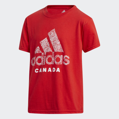Kids Training Red Badge of Sport Canada Tee