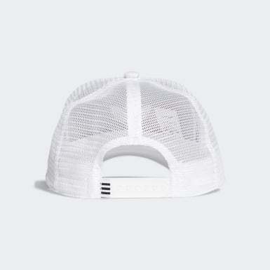 Originals White Trefoil Trucker Cap