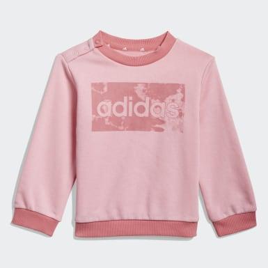 Infants Sport Inspired Pink adidas Essentials Sweatshirt and Pants
