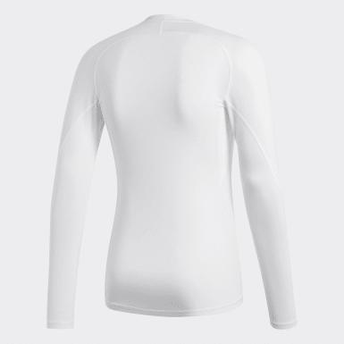 Men Football White Alphaskin Sport Long-Sleeve Top