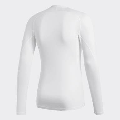 Men Football White Alphaskin Sport Tee