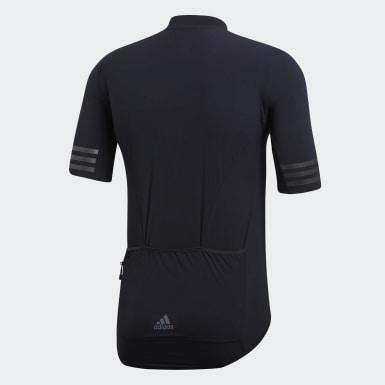 Men Cycling Black Adistar Engineered Woven Jersey