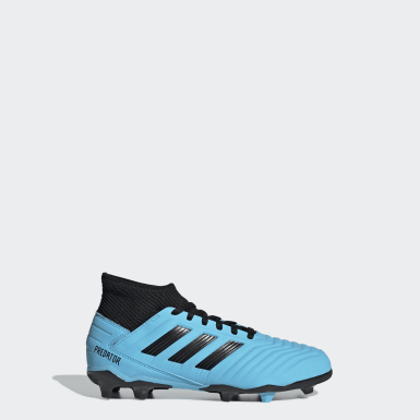 Children Football Turquoise Predator 19.3 Firm Ground Boots