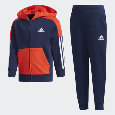 Boys Training Blue Fitted Track Suit
