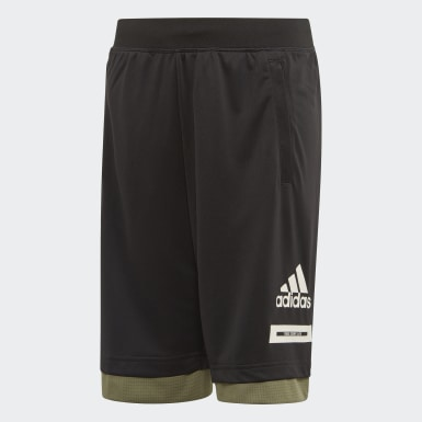 Boys Yoga Black Bold Shorts