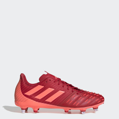 Chaussure Predator Malice Control Terrain gras Rouge Rugby