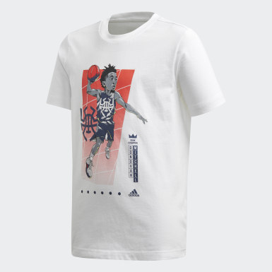 Kinder Basketball Donovan Mitchell Geek Up T-Shirt Weiß