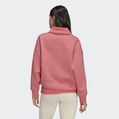 Women Originals Pink Half-Zip Sweatshirt