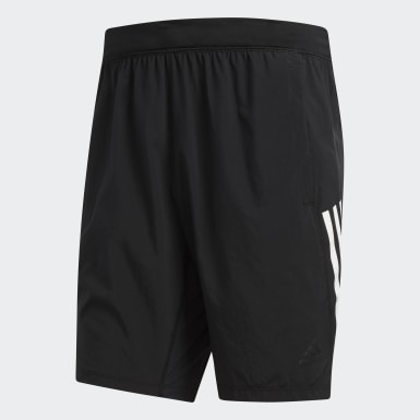 Shorts 4KRFT Tech Woven 3 rayas Negro Hombre Training