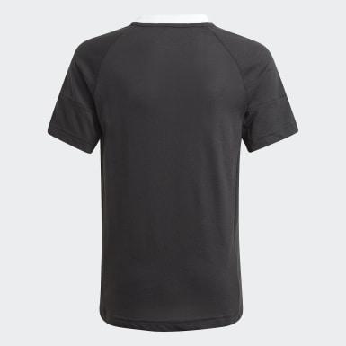 Boys Træning Sort Gaming Football-Inspired trøje