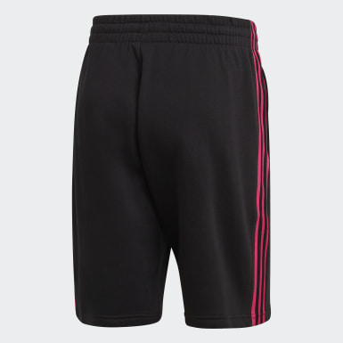 Men Originals Black 3D Trefoil 3-Stripes Sweat Shorts