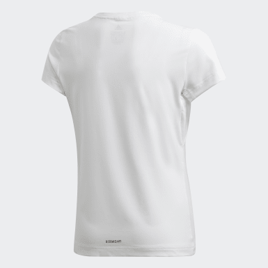 Girls Training White AEROREADY Leo Graphic Tee