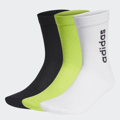Training White Half-Cushioned Vertical Crew Socks 3 Pairs