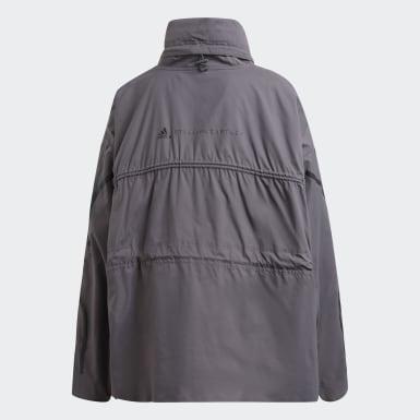 Dam adidas by Stella McCartney Grå Half-Zip Mid Length Jacket
