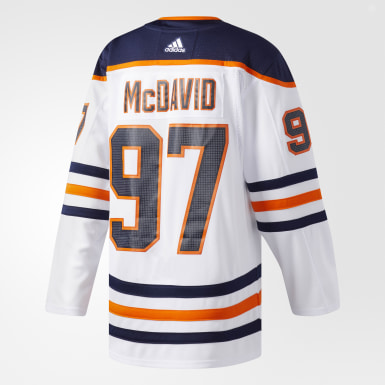 Maillot Oilers McDavid Extérieur Authentic Pro blanc Hockey