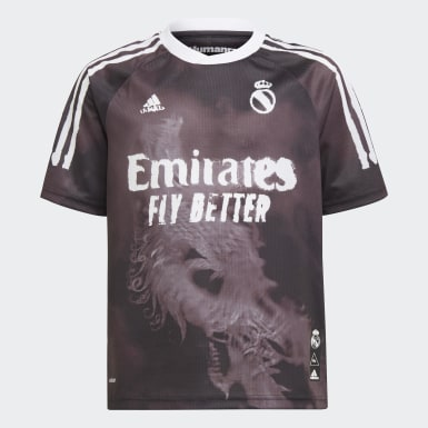 Kids Football Black Real Madrid Human Race Jersey