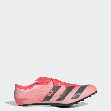 Sapatos de Bicos Adizero Prime Sprint Rosa Atletismo