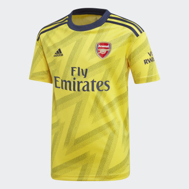 Boys Football Yellow Arsenal Away Jersey