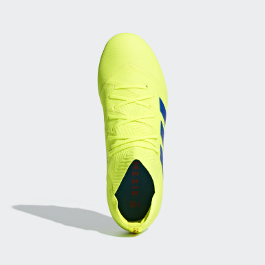Kids Soccer Yellow Nemeziz 18.1 Firm Ground Cleats