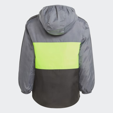 Children Training Grey Colorblock Insulated Jacket