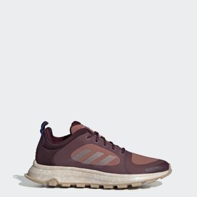 Women Running Burgundy Response Trail X Shoes