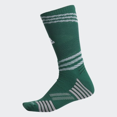 Men's Basketball Green Speed Mesh Team Crew Socks