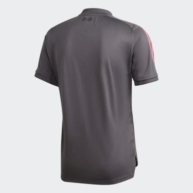 Camiseta de Entrenamiento Real Madrid Gris Hombre Fútbol