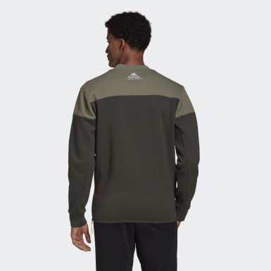Men's Athletics Green adidas Z.N.E. Crew Sweatshirt