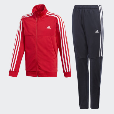 Boys Training Red Tiro Track Suit