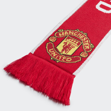 Soccer Red Manchester United Scarf
