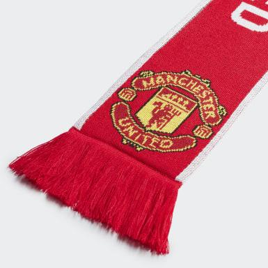 Manchester United Scarf Czerwony