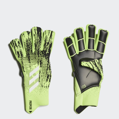 Football Green Predator 20 Pro Fingersave Goalkeeper Gloves