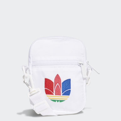 Originals White Trefoil Festival Bag