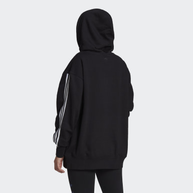 Women Originals Black Adicolor 3D Trefoil Oversize Hoodie