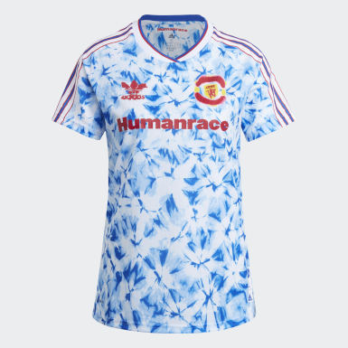 Women Football White Manchester United Human Race Jersey