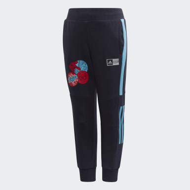 Children Training Blue Spider-Man Tapered Leg Pants