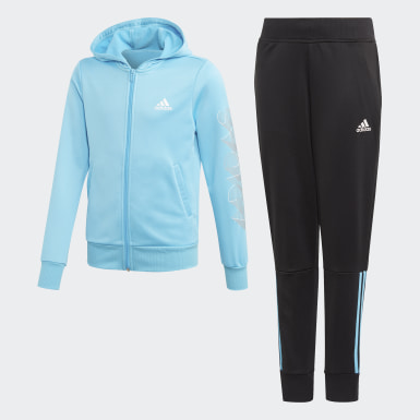 Hooded Polyester Track Suit Turkusowy
