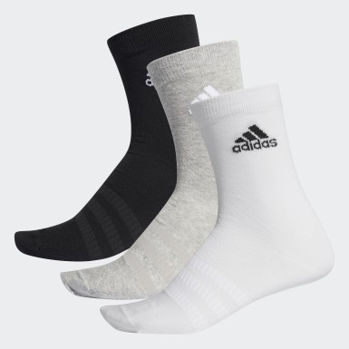 Training Grey Crew Socks 3 Pairs