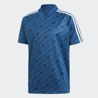 Camiseta Monogram Azul Hombre Originals