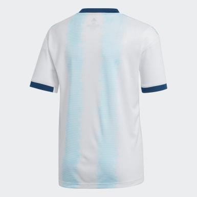 белый Домашняя игровая футболка сборной Аргентины