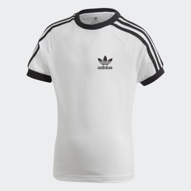 Barn Originals Vit 3-Stripes Tee