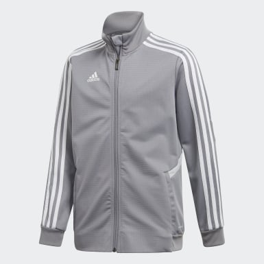 Youth Soccer Grey Tiro 19 Training Jacket
