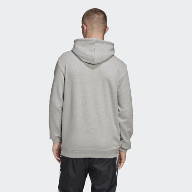 Männer Originals LOUNGEWEAR Trefoil Essentials Hoodie Grau