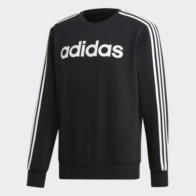 Men's Essentials Black Essentials 3-Stripes Sweatshirt