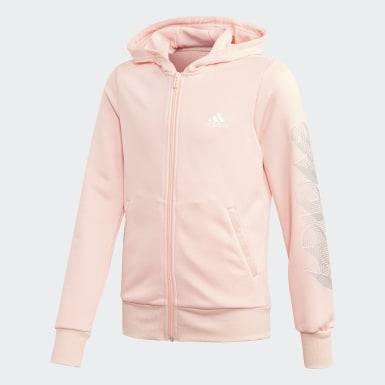 Tuta Hooded Polyester Rosa Ragazza Training