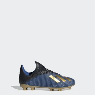 Chaussure X 19.1 Terrain souple Noir Enfants Football