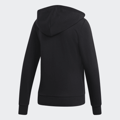 Polerón con capucha Essentials Linear Negro Mujer Essentials