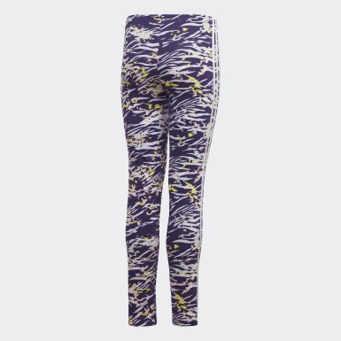 Girls Originals Lilla Allover Print leggings